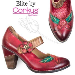 Elite by Corky's Wild Flower Mary Jane Pumps Shoes